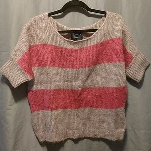 Pink/Gray Chunky Sweater